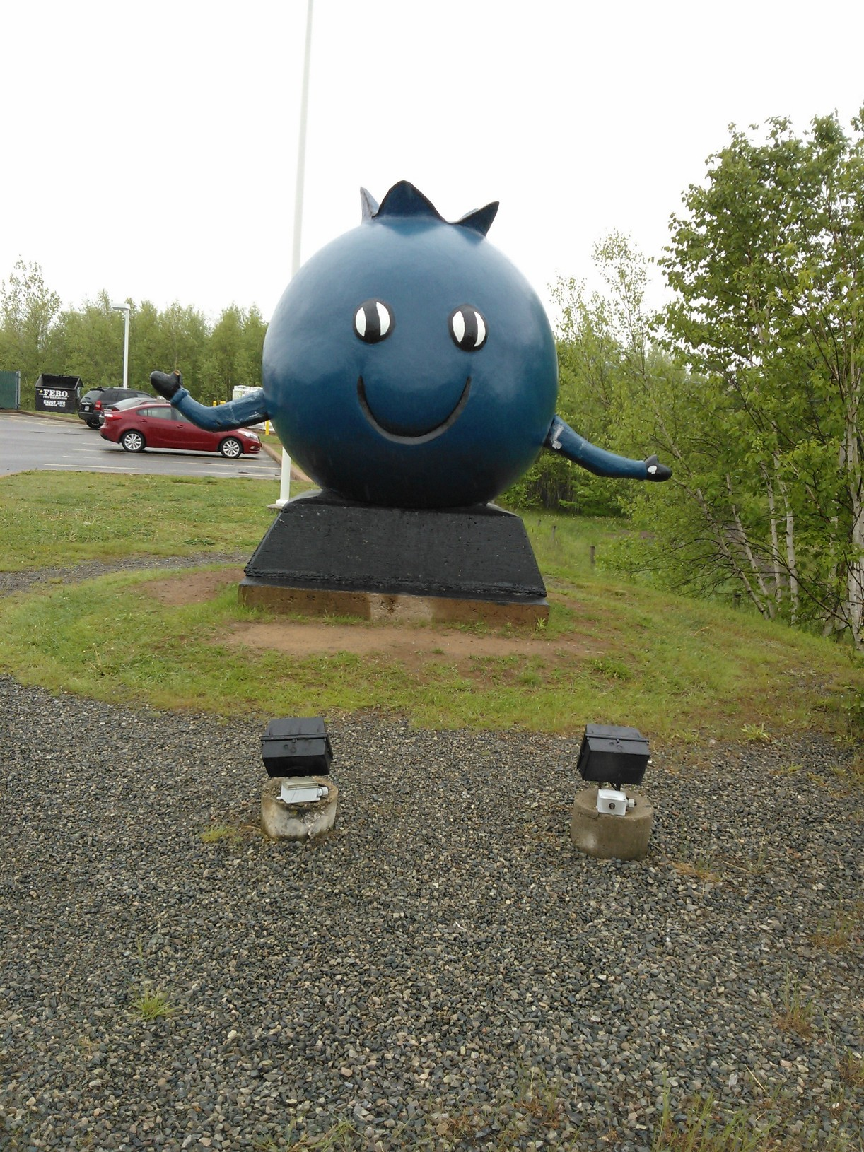 World's Largest Blueberry - Oxford, Nova Scotia