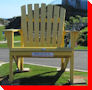 Adirondack Chair - Cape Forchu Lightstation, Nova Scotia