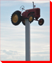 Tractor on a Pole - Irricana, Alberta