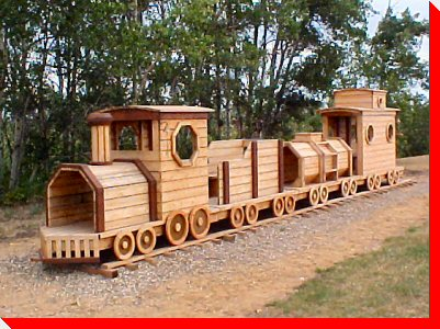 Wooden Train - Nardam, Alberta
