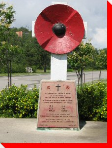 Poppy Memorial - Baie Comeau, Quebec