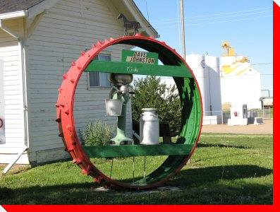 Tractor Wheel - Gull Lake, Saskatchewan