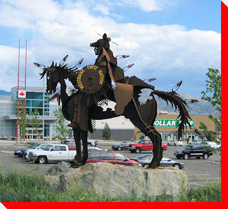 Westbank First Nation Man and Horse - West Kelowna, British Columbia